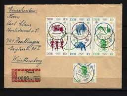 DDR - RECO-Beleg Mi-Nr. 1039 - 1044 Sechserblock Stempel PIRNA - [6] République Démocratique