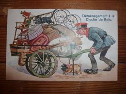 CPA / Carte Postale Ancienne / Illustration / Déménagement à La Cloche De Bois - Autres Illustrateurs
