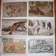 CPA / Lot De 6 Cartes Postales Anciennes / Guerre 14/18 / Le Chien Sanitaire L'ami Fidèle Du Poilu - Guerre 1914-18