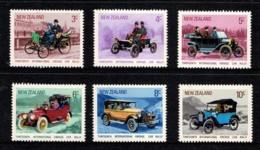 New Zealand 1972 Vintage Cars Set Of 6 MNH - Ongebruikt