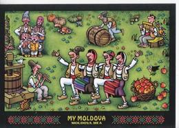 MOLDOVA  , MOLDAVIE ,  My Moldova , National Costumes , Postcard - Moldavie