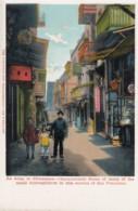 San Francisco California, Chinatown Street Scene, Markets Chinese Businesses, C1900s Vintage Postcard - San Francisco
