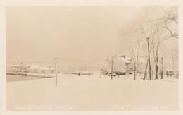 Fort Slocum New York, Passenger Boat Dock, Winter Snow Scene, C1940s Vintage Real Photo Postcard - NY - New York