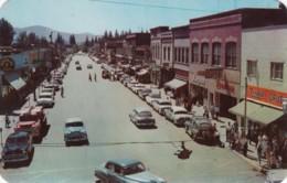 Sandpoint Idaho, Main Street Scene, Business District Rexall Drug Store, Autos, C1950s Vintage Postcard - Etats-Unis