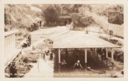 Lava Hot Springs Idaho, Mineral Baths Natatorium, C1920s/30s Vintage Real Photo Postcard - Altri