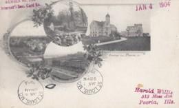 Peoria Illinois, Multi-view Of Town Main Street, Park, Brady Institute, C1900s Vintage Private Mailing Card Postcard - Peoria