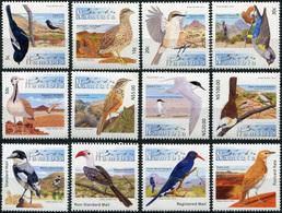 Namibia 2012. Endemic Birds Of Namibia (MNH OG) Set Of 12 Stamps - Namibia (1990- ...)