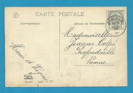 81 Op Kaart Met Stempel BIHAIN - 1893-1907 Armoiries