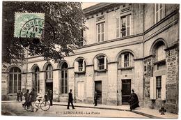 CPA Libourne 33. La Poste, Animée, 1906 - Libourne