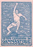 Cernier 1926,  18è Fête Neuchâteloise De Gymnastique Par Illustrateur, Litho (1926) 10x15 - Gimnasia