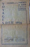 PETITE BROCHURE PUBLICITAIRE- TOURISME- VOYAGES D'ÉTÉ 1956- PROVENCE-VOYAGES ET AUTOCARS DAVOUST AVIGNON - Publicités