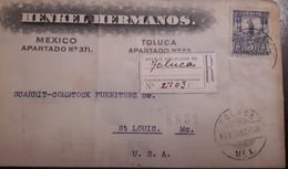 O) 1898 MEXICO, CUAUHTEMOC SC 247 5c, HENKEL HERMANOS - TOLUCA TO USA - Mexico