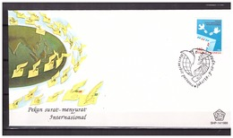 Indonesia 1988 FDC SHP 14 International Letter Writing - Indonesia