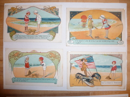CPA / Lot De 8 Cartes Postales Anciennes / Illustrations / Près Des Grands Flots Bleus / E. OROT - Autres Illustrateurs