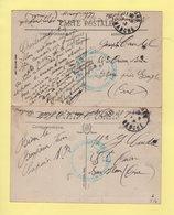 Depot Des Equipages De La Flotte - Centre D Administration - Cherbourg Manche - Lot De 2 Cartes - Guerra De 1914-18