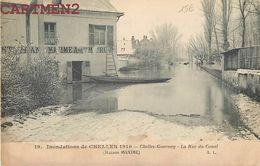 CHELLES GOURNAY LA RUE DU CANAL MAISON MAXIME INONDATIONS CRUE DE LA SEINE SEINE-ET-MARNE 77 - Chelles
