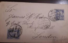 O) 1895 MEXICO, CUAUHTEMOC SC 247 5c, FROM TAMPICO TO LONDON, XF - Mexico
