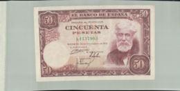 Billet De Banque   ESPAGNE Billet De 50 Pesetas 31/12/1951     Janv 2020  Clas Gera - [ 3] 1936-1975: Regime Van Franco