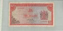 Billet De Banque Rhodesia, Reserve Bank Of Rhodesia 2 Dollars 1975 Janv 2020  Clas Gera - Rhodesia