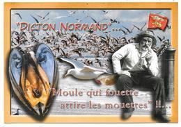 EN NORMANDIE - DICTON NORMAND : Moule Qui Fouette Attire Les Mouettes - éd. LE GOUBEY, Caen - Coquillage - Basse-Normandie