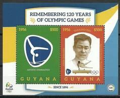 Guyana 2016 Mi Yt Bl 641 MNH ( ZS3 GYNYtbl641davIO16 ) - Gymnastik