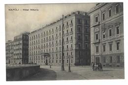 2814 - NAPOLI HOTEL VITTORIA ANIMATA 1920 CIRCA - Napoli (Napels)