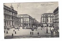 2815 - NAPOLI PIAZZA DELLA BORSA ANIMATA  1920 CIRCA - Napoli