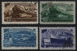 Russia / Sowjetunion 1948 - Mi-Nr. 1252-1255 Gest / Used - Transportwesen - 1923-1991 UdSSR