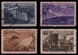 Russia / Sowjetunion 1948 - Mi-Nr. 1186-1189 Gest / Used - Ukrainische SSR - 1923-1991 UdSSR