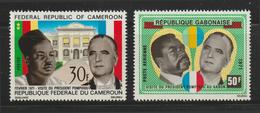 Gabon / Cameroon - 1971 - ( Presidents Bongo And Pompidou ) - MNH (**) - Gabon