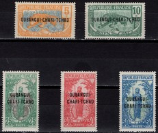Oubangui Chari Tchad - Definitives - Set Of 5 - Mi 20/24 - 1922 - Ungebraucht