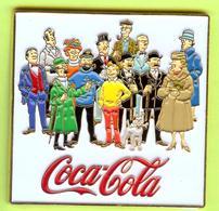 Gros Pin's BD Coca-Cola Tintin (Chandail Jaune)  Milou Haddock Dupont Dupond Tournesol + - #676 - Comics