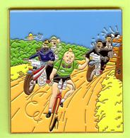 Gros Pin's BD Tintin (Chandail Vert) Cycliste Capitaine Haddock Tournesol Dupont Dupond - #489 - Comics