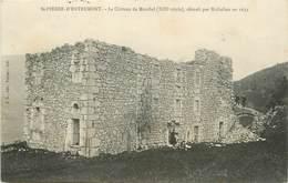 """/ CPA FRANCE 73 """"Saint Pierre D'Entremont, Le Château De Montbel Démoli Par Richelieu En 1633"""" - Francia"""