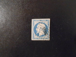 FRANCE YT10 LOUIS-NAPOLEON 25c. Bleu Losange PC 2855 - 1852 Luigi-Napoleone