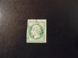 FRANCE YT12 NAPOLEON III 5c. Vert Losange PC 1495 - 1853-1860 Napoleon III
