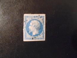 FRANCE YT14B NAPOLEON III, EMPIRE.FRANC 20c.bleu Type II Losange PC 9xx - 1853-1860 Napoleon III
