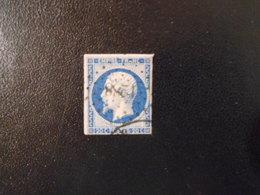 FRANCE YT14A NAPOLEON III, EMPIRE.FRANC 20c.bleu Type I Losange PC 1288 - 1853-1860 Napoleon III