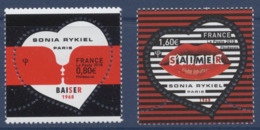 N° 5198 Et 5199 Saint Valentin Coeur Sonia Rykiel Faciale 0,80+1,60€ - Francia
