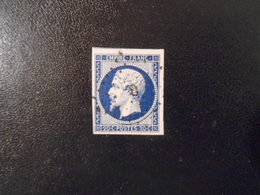 FRANCE YT14Aa NAPOLEON III, EMPIRE.FRANC 20c.bleu Foncé  Type I Losange Etoile De Paris 0 - 1853-1860 Napoleon III