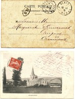 HAUTE MARNE 1908 BLAIS RECETTE DISTRIBUTION - Poststempel (Briefe)
