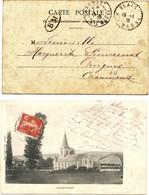 HAUTE MARNE 1908 BLAIS RECETTE DISTRIBUTION - Postmark Collection (Covers)