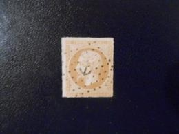 FRANCE YT13B NAPOLEON III TYPE II 10c. Brun-clair Losange Ancre - 1853-1860 Napoleon III