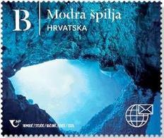 CROATIA 2020,NATURAL WONDERS OF THE REPUBLIC OF CROATIA, THE BLUE CAVE,ISLAND BISEVO,MNH - Geología