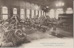 MEURTHE ET MOSELLE  LONGWY SOCIETE DES ACIERIES DE LONGWY GROUPES ELECTROGENES STATION E 1912 - Longwy