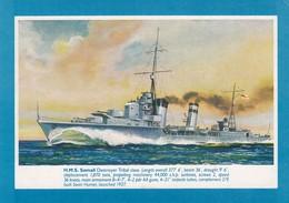 Postcard HMS Somali Tribal Class Destroyer My Ref  B23933 - Warships