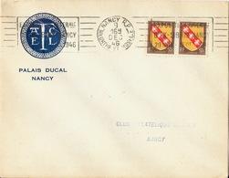 Enveloppe En-tête AFCEL Palais Ducal Nancy (Meurthe Et Moselle) Cachet Exposition Ex-Libris 1949 Timbre 50c - 1921-1960: Periodo Moderno
