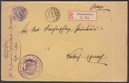 SG   Lömmenschwil / Häggenschwil  -  Neukirch  /  Gute Frankatur Mit 15 Rp Ziffer Nr. 64A - 1882-1906 Wappen, Stehende Helvetia & UPU