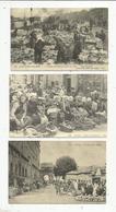 Cp , Reproduction,métier , COMMERCE , FOIRES ET MARCHES, LOT DE 5 CARTES - Postcards