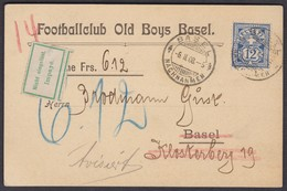 FUSSBALL CLUB OLD BOYS BASEL  1908 - Covers & Documents